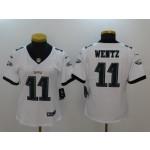 NFL Women Philadelphia Eagles Carson Wentz #11 White Jersey