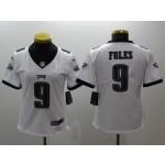 NFL Women Philadelphia Eagles Foles #9 White Jersey