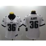 NFL Women Philadelphia Eagles Ajayi #36 White Jersey