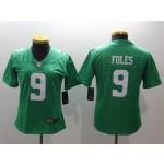 NFL Women Philadelphia Eagles Foles #9 Light Green Jersey