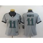 NFL Women Philadelphia Eagles Carson Wentz #11 grey Inverted Legend Jersey