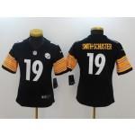 NFL Women Pittsburgh Steelers Smith-Schuster #19 black Jersey