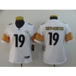 NFL Women Pittsburgh Steelers Smith-Schuster #19 White Jersey