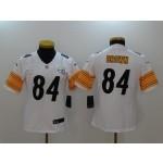 NFL Women Pittsburgh Steelers Antonio Brown #84 White Jersey
