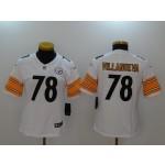 NFL Women Pittsburgh Steelers Villanueva #78 White Jersey