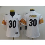 NFL Women Pittsburgh Steelers Conner #30 White Jersey