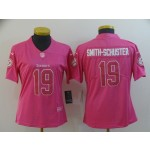 NFL Women Pittsburgh Steelers Smith-Schuster #19 Pink Jersey
