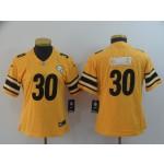 NFL Women Steelers Conner #30 Gold Inverted Legend Jersey