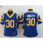 NFL Women Rams Todd Gurley II #30 Royal blue Jersey