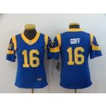 NFL Women Rams Jared Goff #16 Royal blue Jersey
