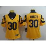 NFL Women Rams Todd Gurley II #30 Yellow Jersey