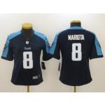 NFL Women Tennessee Titans Mariota #8 navy blue Jersey