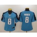 NFL Women Tennessee Titans Mariota #8 Sky blue Jersey