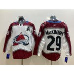 NHL Colorado Avalanche #29 Nathan MacKinnon White New Adidas Jersey