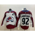 NHL Colorado Avalanche #92 Gabriel Landeskog White New Adidas Jersey