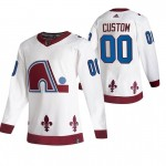 Colorado Avalanche Custom White Men's Adidas 2020-21 Reverse Retro Alternate Player NHL Jersey (Name and number remark in comment column)