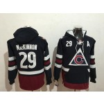 NHL Colorado Avalanche #29 Nathan MacKinnon Navy All Stitched Hooded Sweatshirt