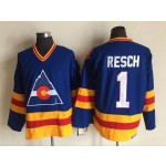 Men's Colorado Avalanche #1 Chinco Resch Sky blue throwback Jersey