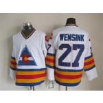 Men's Colorado Avalanche #27 John Wensink White throwback Jersey