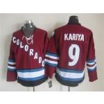 Men's Colorado Avalanche #9 Paul Kariya 2001-02 Red CCM Throwback Jersey