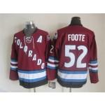Men's Colorado Avalanche #52 Adam Foote 2001-02 Red CCM Throwback Jersey
