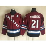 YouthColorado Avalanche #21 Peter Forsberg 2001-02 Red CCM Throwback Jersey