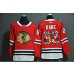 NHL Chicago Blackhawks #88 Patrick Kane Red Team Logo Adidas Jersey