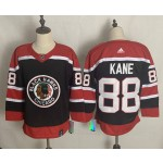Chicago Blackhawks #88 Patrick Kane Black Men's Adidas 2020-21 Reverse Retro Alternate NHL Jersey