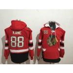 NHL Chicago Blackhawks #88 Patrick Kane Red All Stitched Hooded Sweatshirt