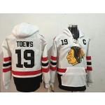 NHL Chicago Blackhawks #19 Jonathan Toews White Winter Classic All Stitched Hooded Sweatshirt