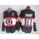 Men's Chicago Blackhawks #10 Patrick Sharp Black Third Throwback Jersey