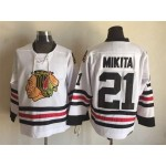 Chicago Blackhawks #21 Stan Mikita White Throwback CCM Jersey