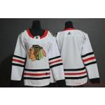 Women Chicago Blackhawks White Adidas Jersey
