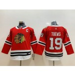 Youth Chicago Blackhawks #19 Jonathan Toews Red Adidas Jersey