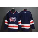 NHL Columbus Blue Jackets Blank Navy Drift Fashion Adidas Jersey