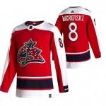Columbus Blue Jackets #8 Zach Werenski Red Men's Adidas 2020-21 Reverse Retro Alternate NHL Jersey