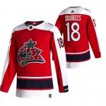 Columbus Blue Jackets #18 Pierre-Luc Dubois Red Men's Adidas 2020-21 Reverse Retro Alternate NHL Jersey