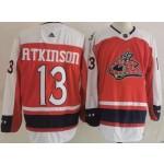 Columbus Blue Jackets #13 Cam Atkinson Red Men's Adidas 2020-21 Reverse Retro Alternate NHL Jersey