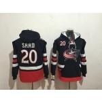 NHL Columbus Blue Jackets #20 Brandon Saad Navy All Stitched Hooded Sweatshirt