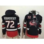 NHL Columbus Blue Jackets #72 Sergei Bobrovsky Navy All Stitched Hooded Sweatshirt