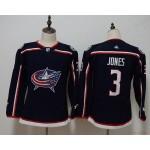 Women Columbus Blue Jackets #3 Seth Jones Navy Adidas Jersey