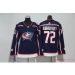Women Columbus Blue Jackets #72 Sergei Bobrovsky Navy Adidas Jersey