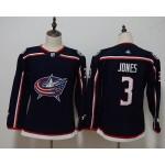 Youth Columbus Blue Jackets #3 Seth Jones Navy Adidas Jersey