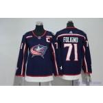 Youth Columbus Blue Jackets #71 Nick Foligno Navy Adidas Jersey