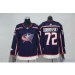 Youth Columbus Blue Jackets #72 Sergei Bobrovsky Navy Adidas Jersey