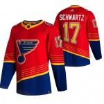 St. Louis Blues #17 Jaden Schwartz Red Men's Adidas 2020-21 Reverse Retro Alternate NHL Jersey