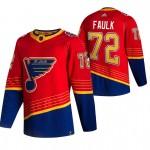 St. Louis Blues #72 Justin Faulk Red Men's Adidas 2020-21 Reverse Retro Alternate NHL Jersey