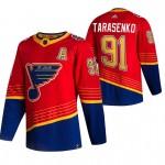 St. Louis Blues #91 Vladimir Tarasenko Red Men's Adidas 2020-21 Reverse Retro Alternate NHL Jersey
