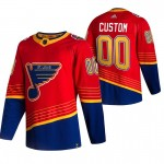 St. Louis Blues Custom Red Men's Adidas 2020-21 Reverse Retro Alternate NHL Jersey (Name and number remark in comment column)