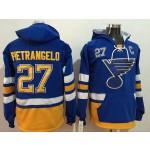 NHL St. Louis Blues #27 Alex Pietrangelo Blue All Stitched Hooded Sweatshirt